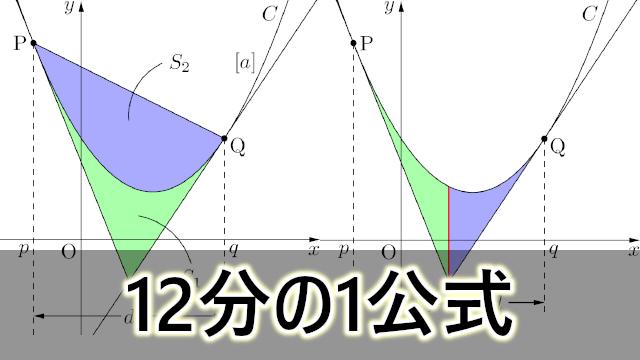 面積を求める12分の1公式