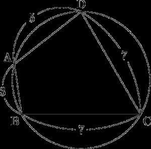 1998年 センターIA 追試 三角比 平面図形