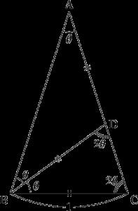 sin18°に関する入試問題 2004年 静岡大