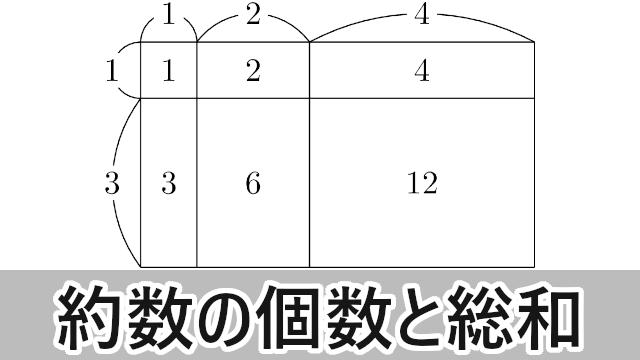 正の約数の個数とその約数の総和