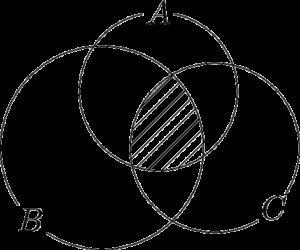 3つの集合の共通部分