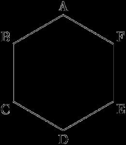 正六角形の周上を動く点の位置に関する確率