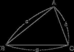 三角形ABCの頂点と対辺