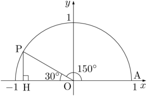 150°の三角比の値