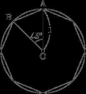 正八角形の面積