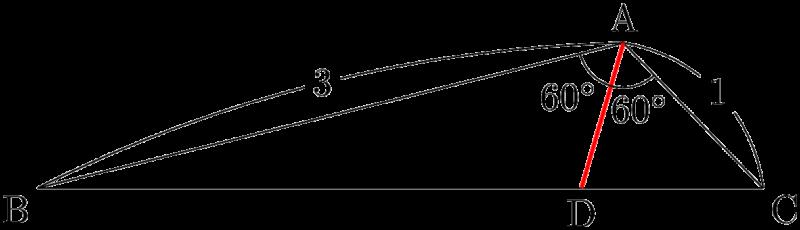 角の二等分線ADの長さ