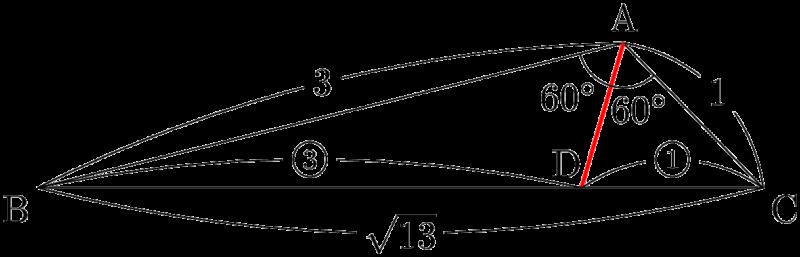 角の二等分線の性質の利用