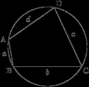 円に内接する四角形ABCD