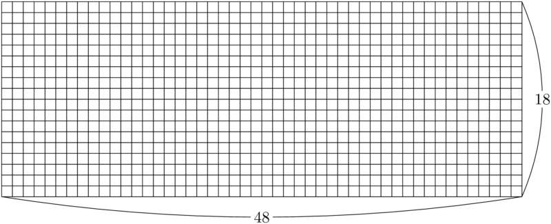 48×18の長方形