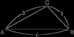 ヘロンの公式を利用して三角形の面積を求める