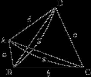 四角形ABCDと対角線