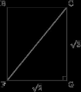 長方形BFGC