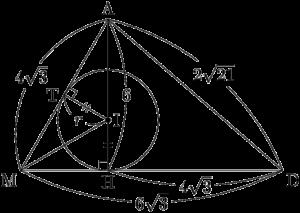 四面体の内接球の半径
