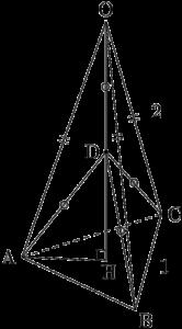 四面体OABCの外接球の半径