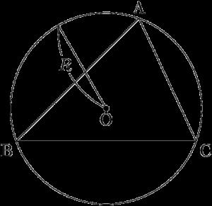 三角形ABCとその外接円
