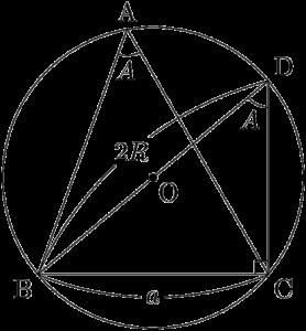 正弦定理の証明(鋭角)