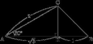 三角定規の組み合わせからできている