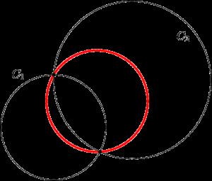 2つの円の交点を通る円