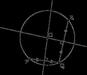 3点を通る円の中心を求める作図