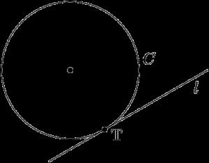 円Cと直線lが点Tで接している
