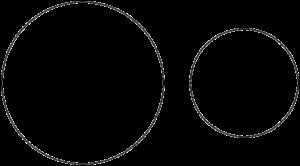 2つの円が離れている