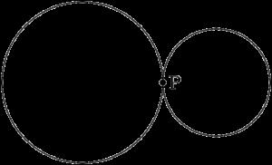 2つの円が外接する
