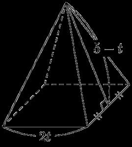 2021年 学習院大 正四角錐の体積